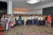 Ženski pevski zbor in del pritrkovalske sekcije Kulturnega društva Korte v Makedoniji